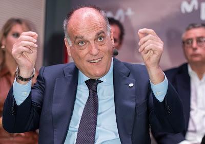 """Ook Spaans ligavoorzitter schiet Europese Superliga af: """"Zo'n plannen zien er pas goed uit om vijf uur 's ochtends na een hele nacht aan de bar te hebben gehangen"""""""