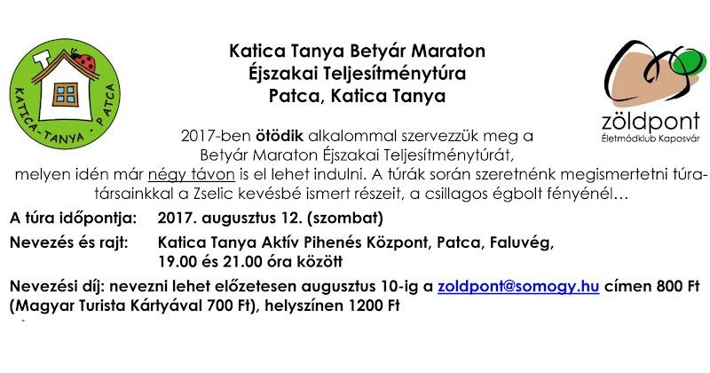 Katica Tanya Betyár Maraton Éjszakai Teljesítménytúra 2017.08.12