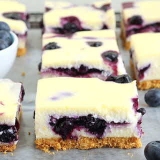Blueberry Pie Cheesecake Bars.