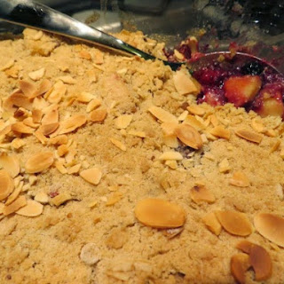 Apple, Blackberry and Blueberry Crumble (Gluten-Free).