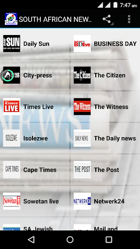 SOUTH AFRICAN NEWSPAPERS