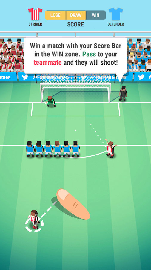 Tiny Striker: World Football- screenshot