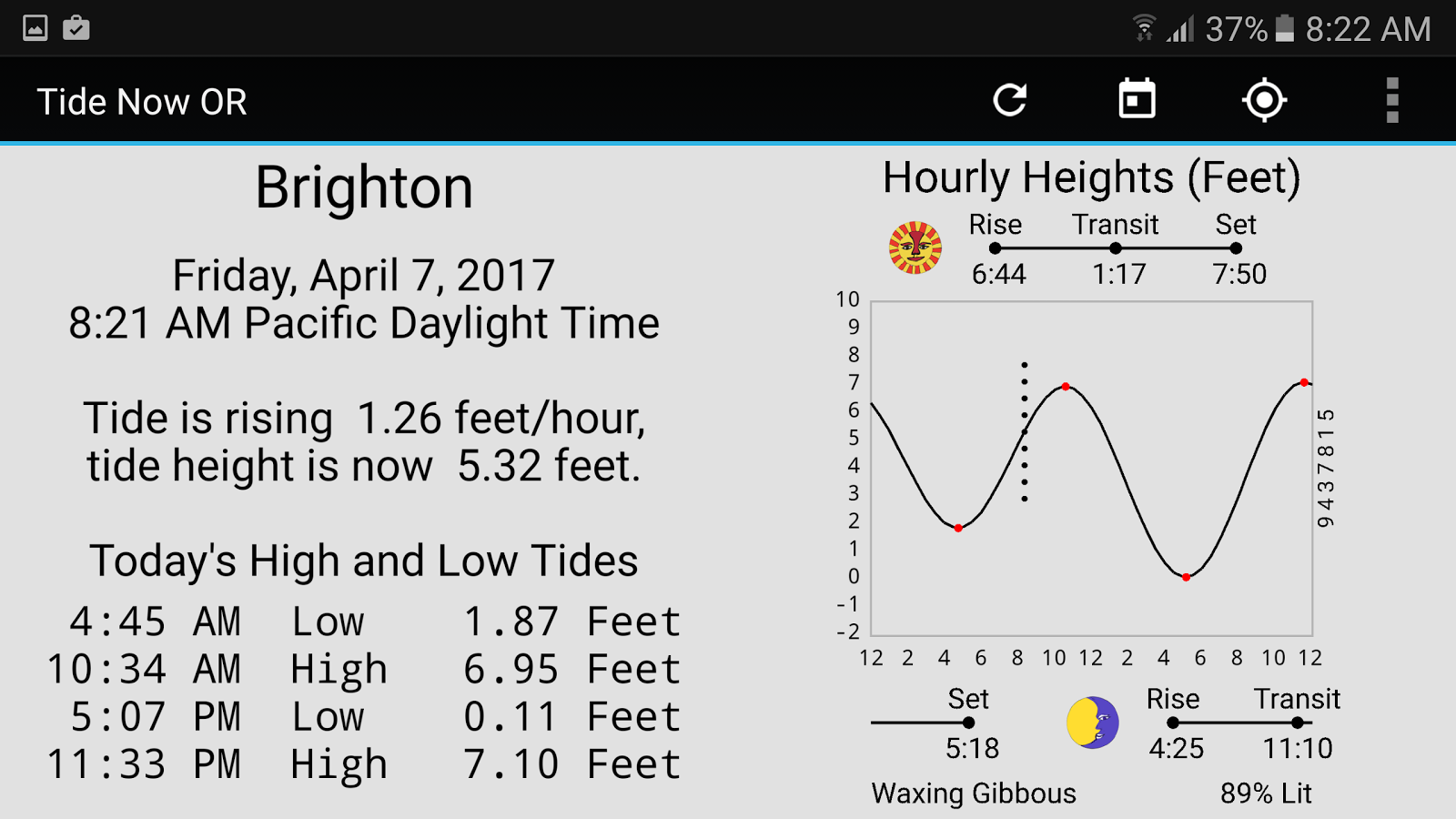 Tide now or oregon tides sun and moon times android apps on tide now or oregon tides sun and moon times screenshot geenschuldenfo Images