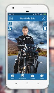 Man Moto Photo Suit Screenshot