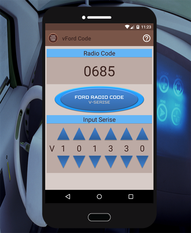 vford radio security code android apps on google play. Black Bedroom Furniture Sets. Home Design Ideas
