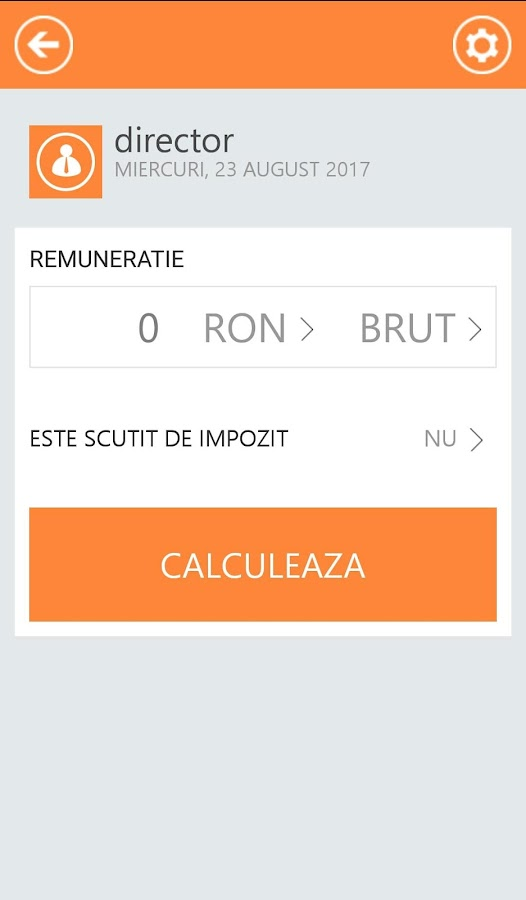 Calculator Venituri- screenshot