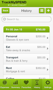 TrackMySPEND- screenshot thumbnail