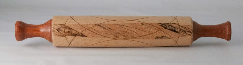 "Photo: Richard Webster 2"" x 15"" rolling pin [assorted woods]"