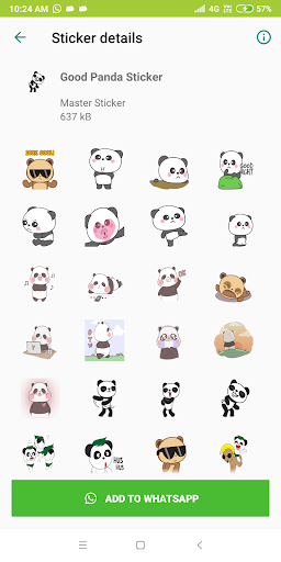 Cute Panda Sticker Pack - WAStickerApps New 1.0-release-first screenshots 4