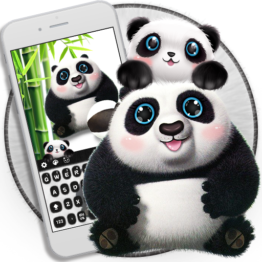 Cute panda keyboard