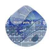 North pole sky GO Keyboard
