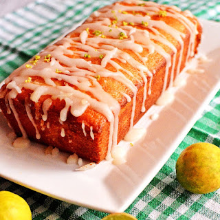 Key Lime Pound Cake (Eggless)