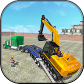 Construction Machines Transporter Cargo Truck Game