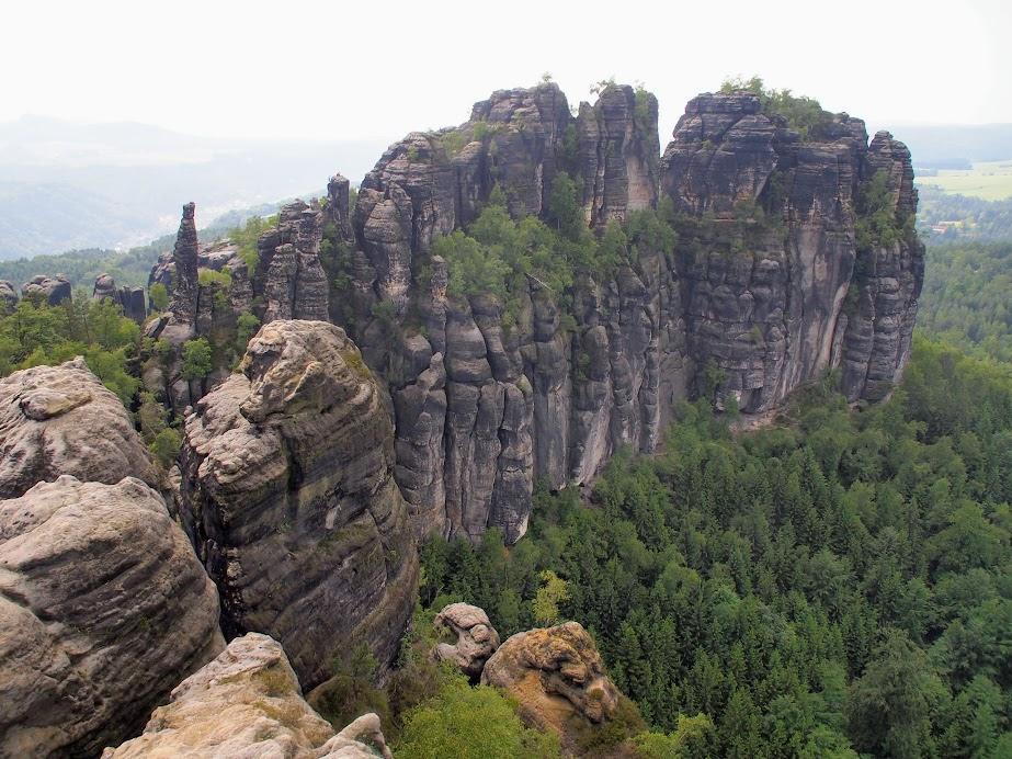 Schrammsteine Ridgeline
