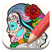 Free Adult Coloring:SugarSkull