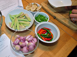 Photo: preparing ingredients for the soup