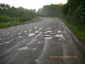 Photo: 200 км Плохой участок грейдера в дождливую погоду