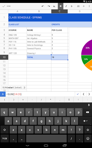 Google Sheets screenshot 5