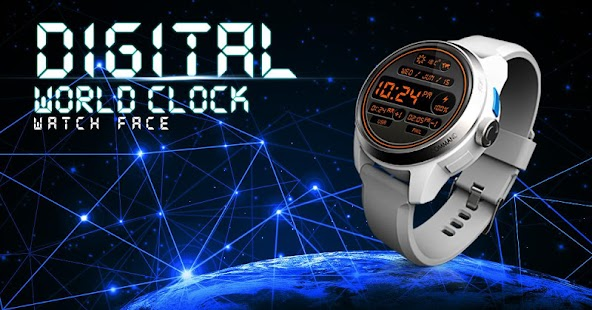 Digital World Time Watch Face- screenshot thumbnail
