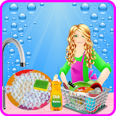 Washing Dishes games for girls