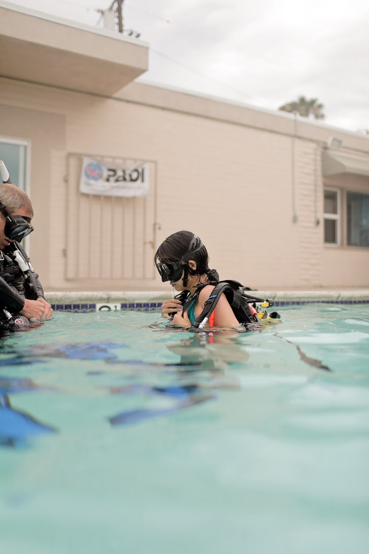 Scuba San Diego Lessons at Oceanside Scuba and Swim Center.