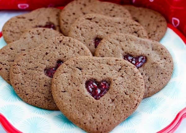 A Tray Of Raspberry Jewel Cookies.