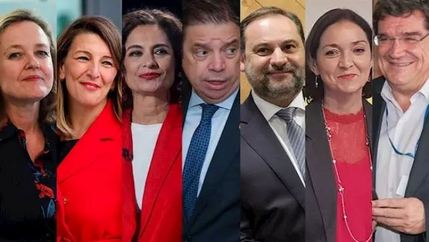 Los nuevos ministros del área económica.