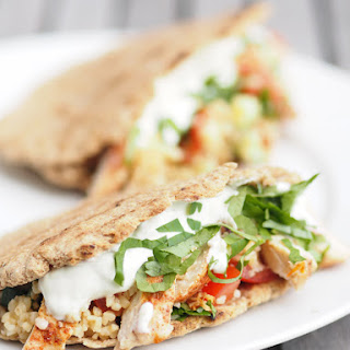 Chicken Tabbouleh Pitas