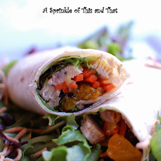 Grilled Chicken Wraps with Mandarin Orange Salsa