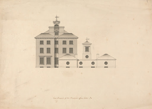Whitton House, Middlesex: Elevation of the East Front