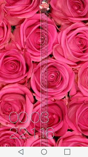 Rose Zipper Lock Screen