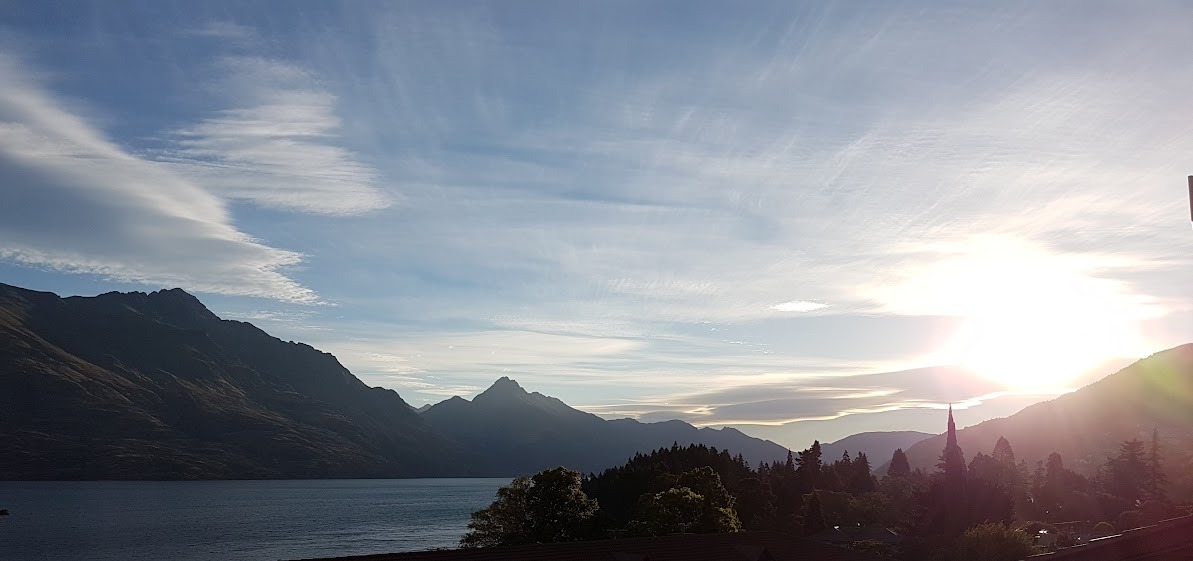 sunset on Lake Wakatipu