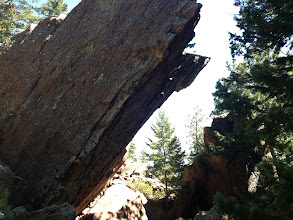 Photo: A cool boulder between the Fatiron and the Maiden - hard bouldering potential for the local young guns.
