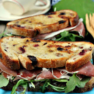 Cranberry Cheese and Prosciutto Sandwich.
