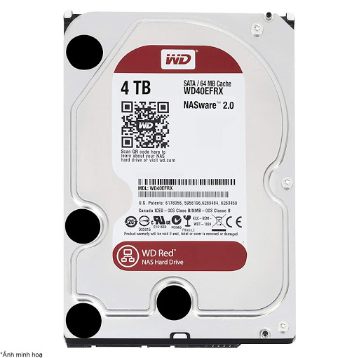 ổ cứng HDD NAS WD Red 4TB Sata3 5400rpm (WD40EFRX)