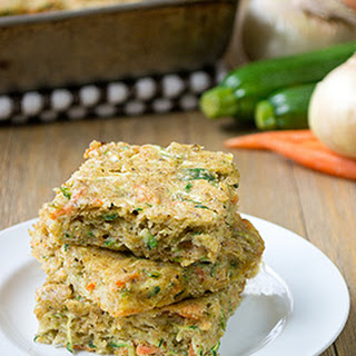 Savory Carrot & Zucchini Squares