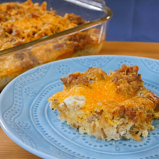 Hash Brown Sausage Breakfast Casserole.