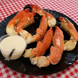stone crab claws, famous in Florida in Miami, Florida, United States
