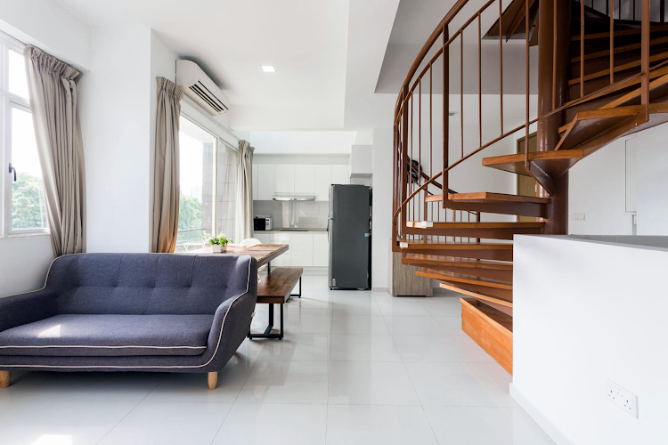 living space at Duplex Penthouse, Seraya Lane