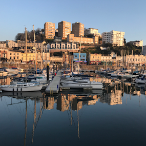 Torquay Town and Harbour at it's best by ADW Photography - City,  Street & Park  Street Scenes ( #city #reflections #street #buildings #architecture )
