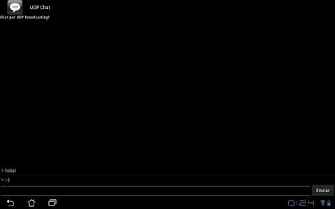 UDP Chat screenshot 1