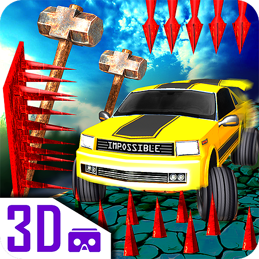 Impossible car escape 3d stunts Speed Racing mania