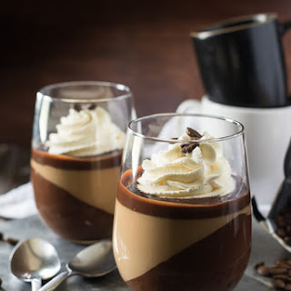 Mocha Panna Cotta with Mascarpone Cream