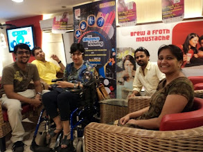Photo: Malay, Arko, Malini, Sujit and Kinjal at CCD Mumbai congregated as a part of our 2012 World Disability Day Celebrations.