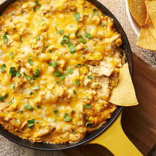 Green Chile Chicken Skillet Dip.