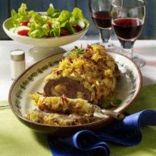 "Hackrolle ""Cordon bleu"" mit Kartoffelkruste"