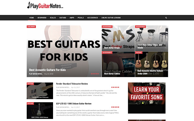 Play Guitar Notes Lessons