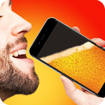 Drink Beer from Phone Joke Icon