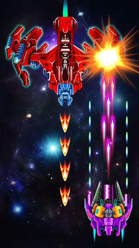 Galaxy Attack: Alien Shooter 7.58 APK MOD screenshots 2