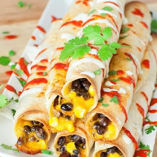 Cheesy Black Bean Flautas